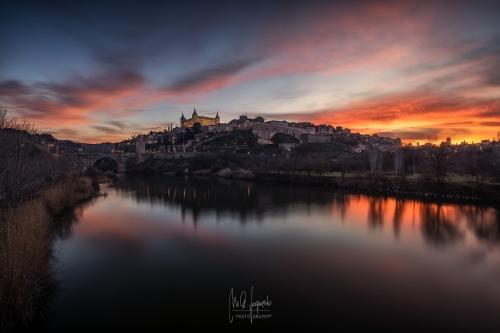 Atardecer-Toledo-Puente-Azarquiel